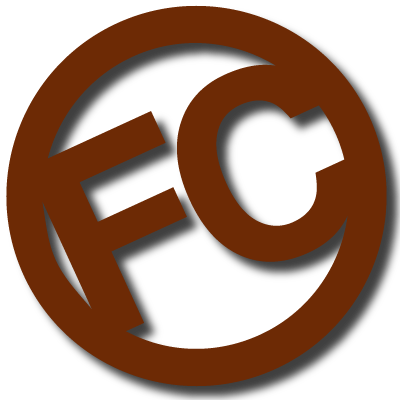 Fairwood Construction Logo | FC initials inside brown circle